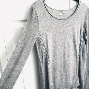 Lucky Brand / Gray long sleeve top